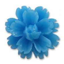 14mm Turquoise Blue Lucite Flower Resin Flatback Cabochons